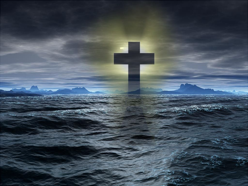 Cross Wallpaper With Beautiful Background 1024x768