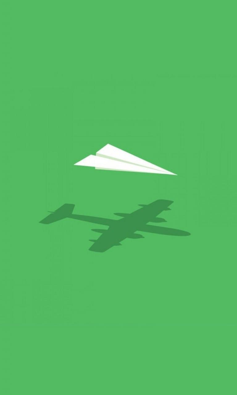 Aircraft minimalistic wall imagination paper plane fun art wallpaper 768x1280