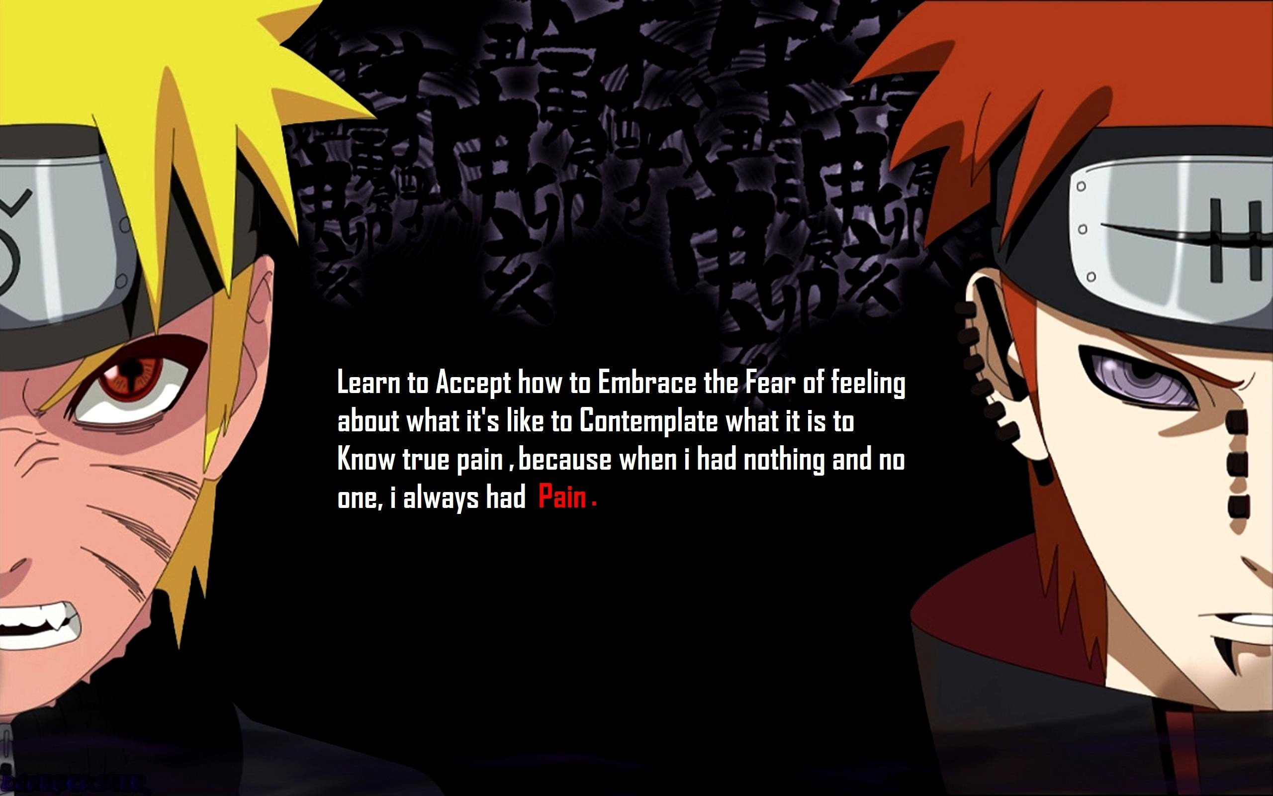 text quotes pain Naruto Shippuden Akatsuki hate red eyes characters 2560x1600