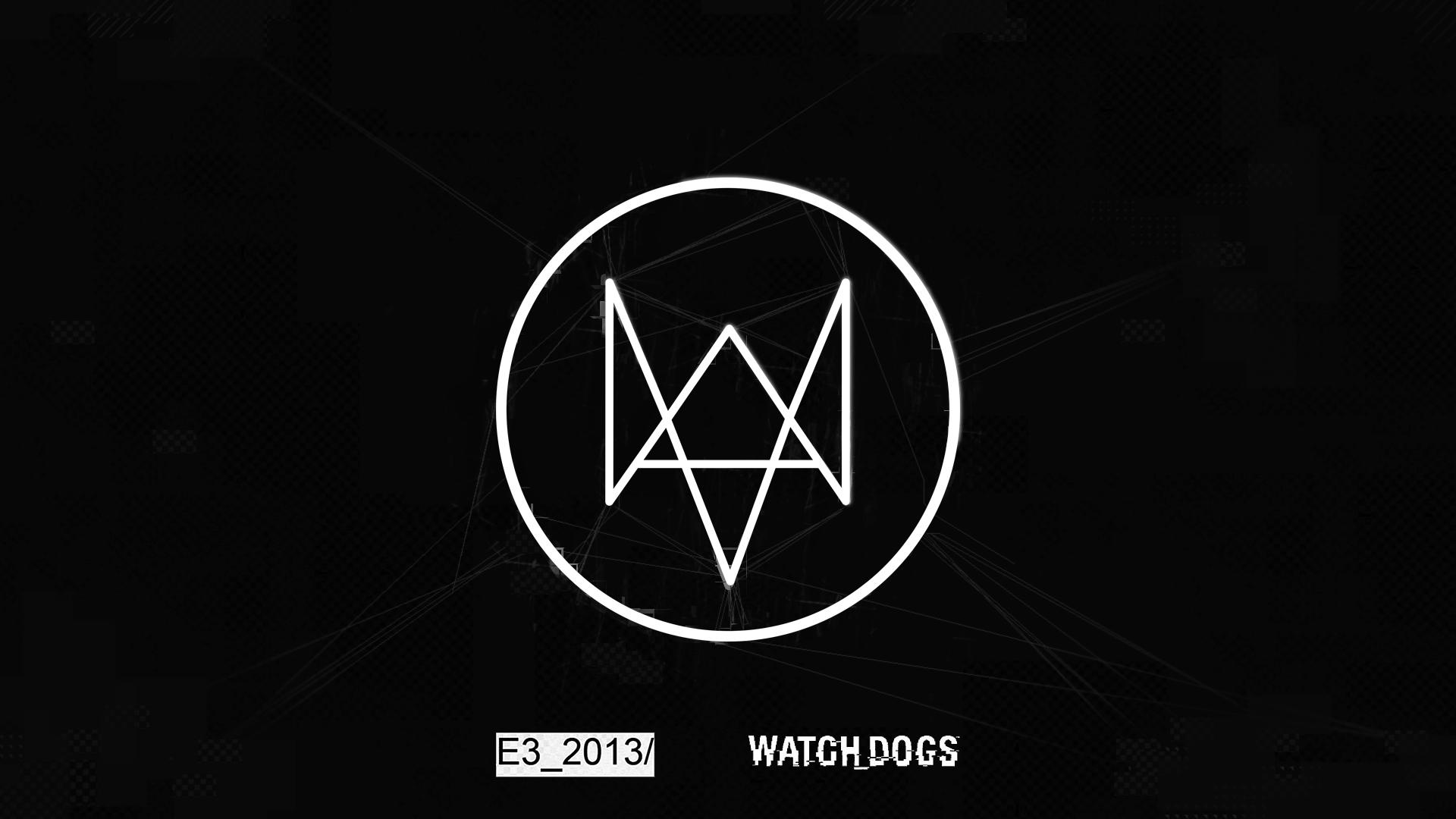 wallpapers watch fox logo watchdogs 1920x1080