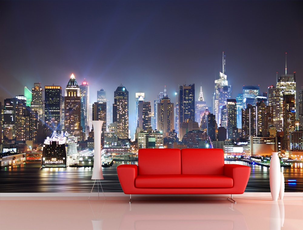 Wall Mural Photo Wallpaper New York City Manhattan skyline USA 1000x758