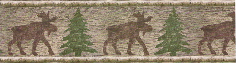 Details about BATHROOM Moose and Pine Trees Wallpaper Border 13227N 770x205