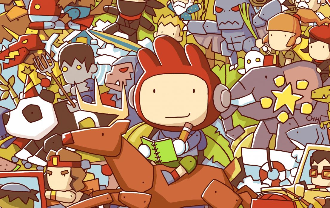 SCRIBBLENAUTS puzzle action family scrolling superhero 48 1106x700
