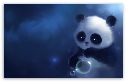 Sad Panda Painting HD desktop wallpaper Widescreen High Definition 510x330