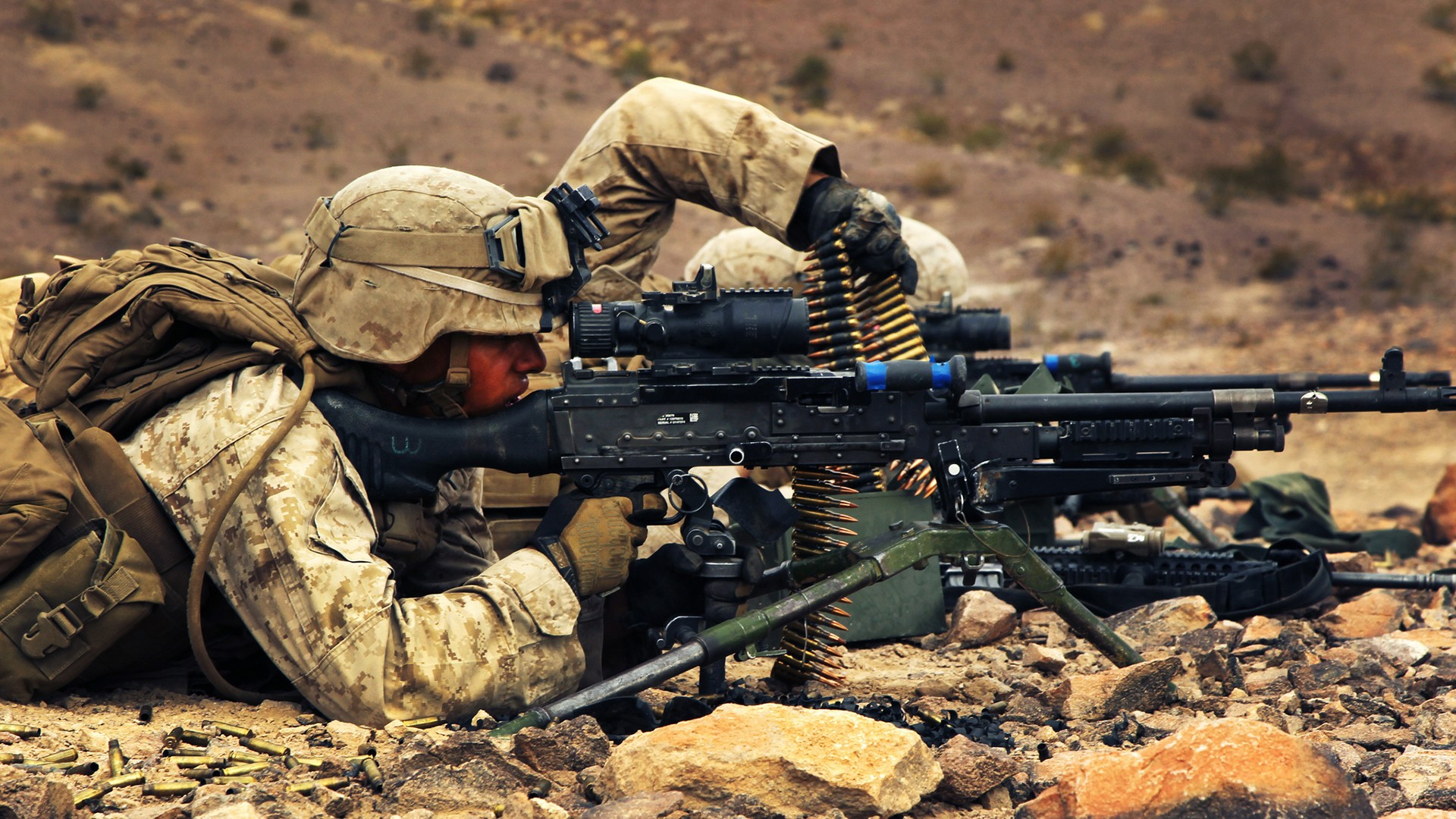 Wallpapers M240 tripod United States Marine Corps 1920x1080