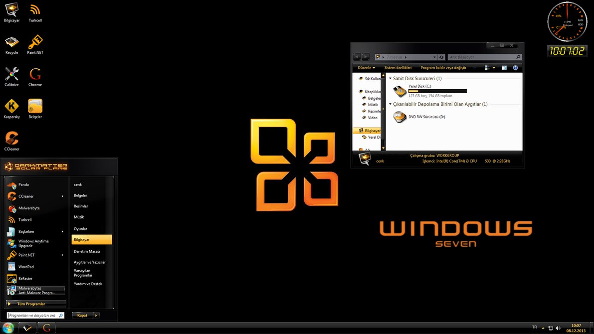 Free download Windows 7 Home Basic 64 Bit Theme Customization by