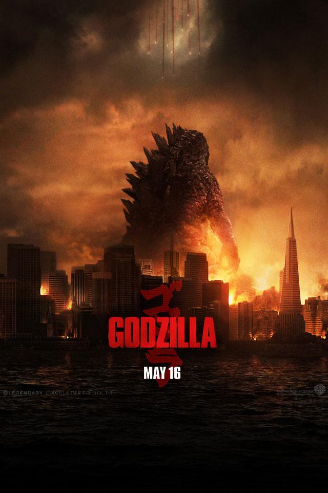 2014 Wallpaper iPhone 5s Godzilla Movie 2014 HD iPhone iPad 640x960