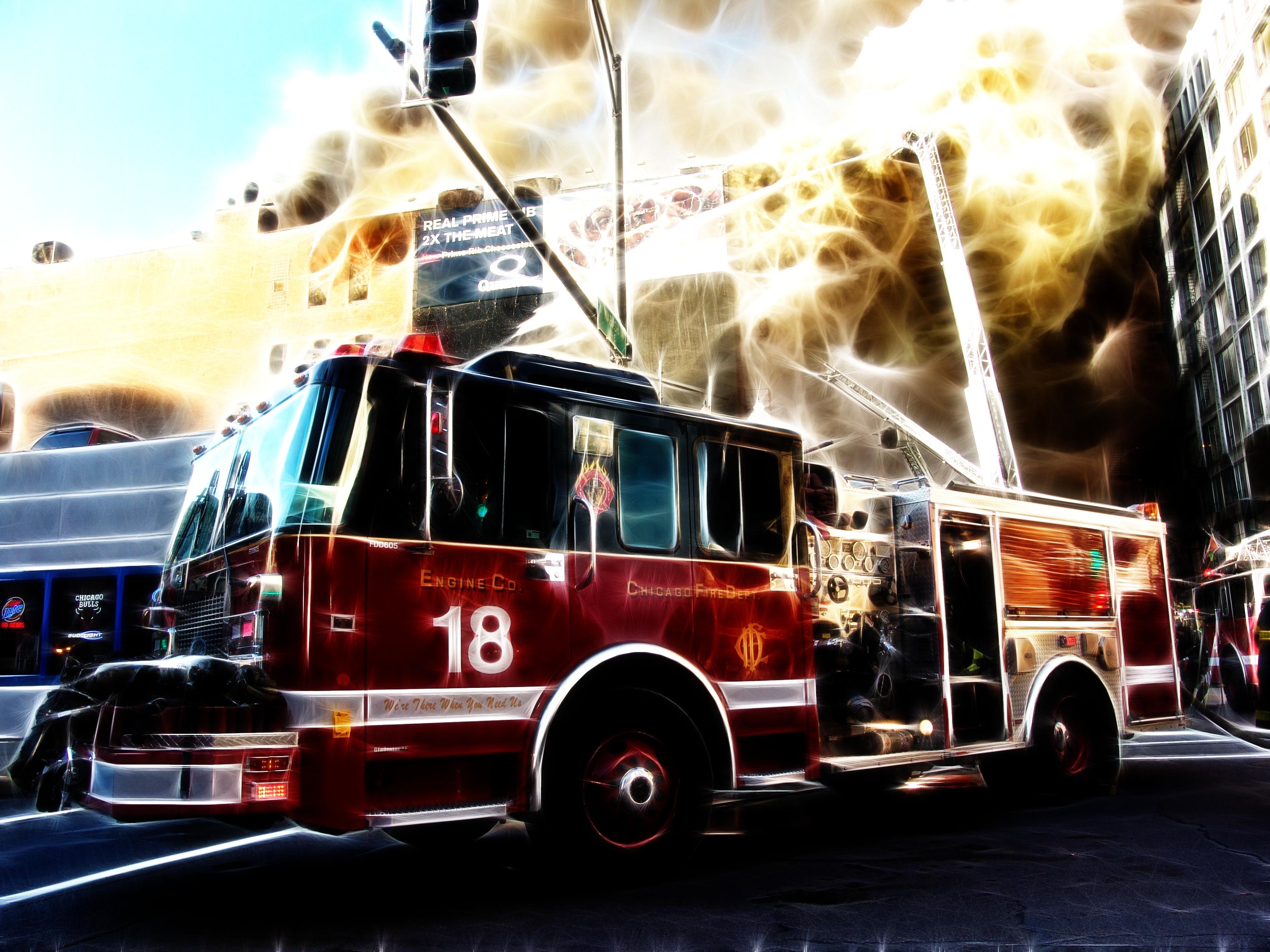 47 Fire Truck Wallpaper Desktop On Wallpapersafari