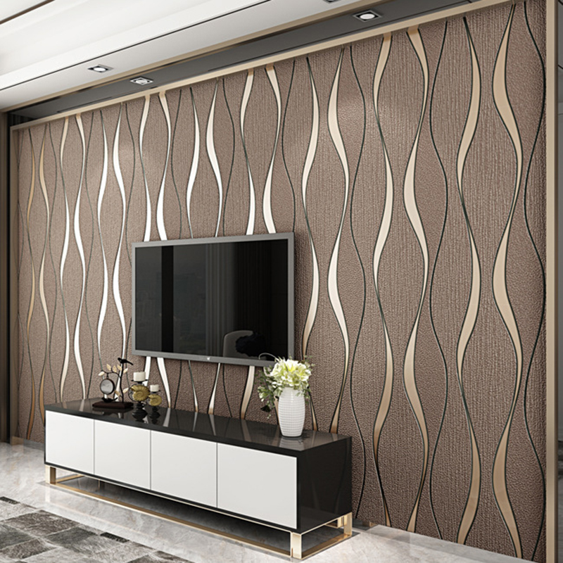 3D Striped Wallpaper For Walls Roll Living Room TV Background Wall 800x800