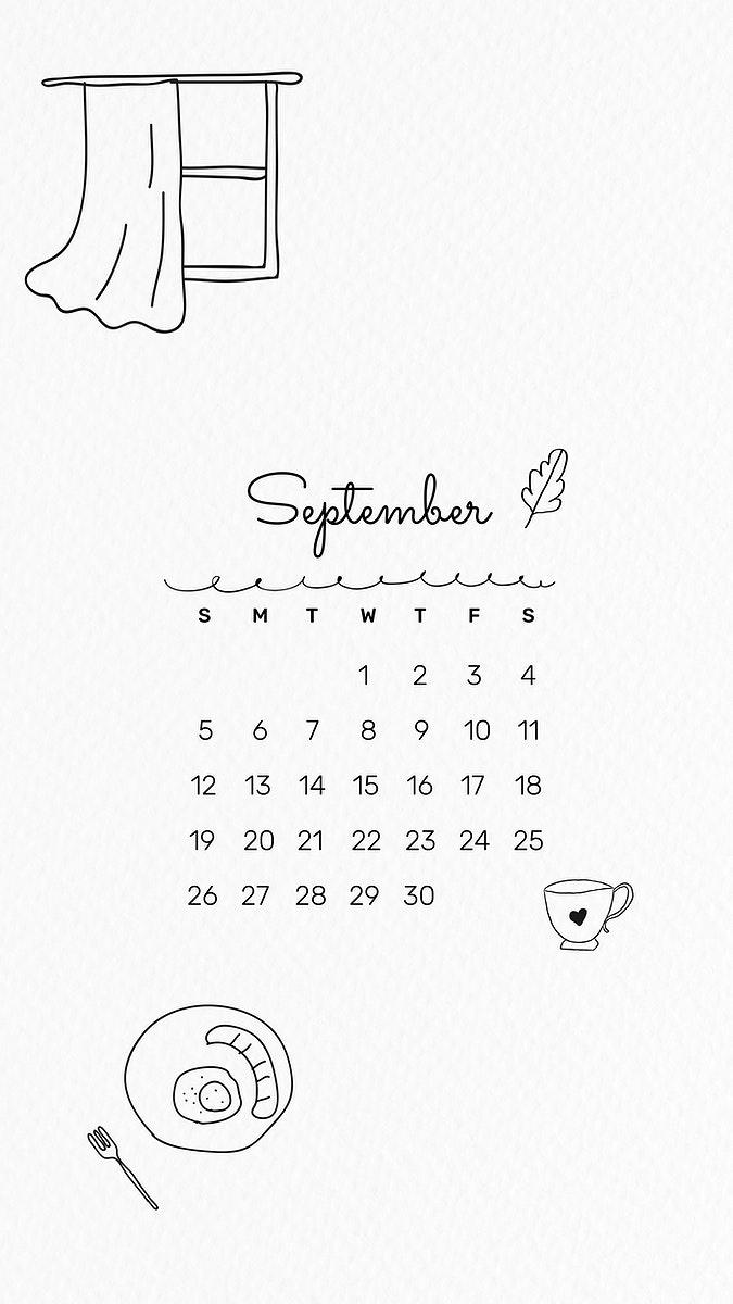 September 2021 mobile wallpaper vector Premium Vector   rawpixel 675x1200