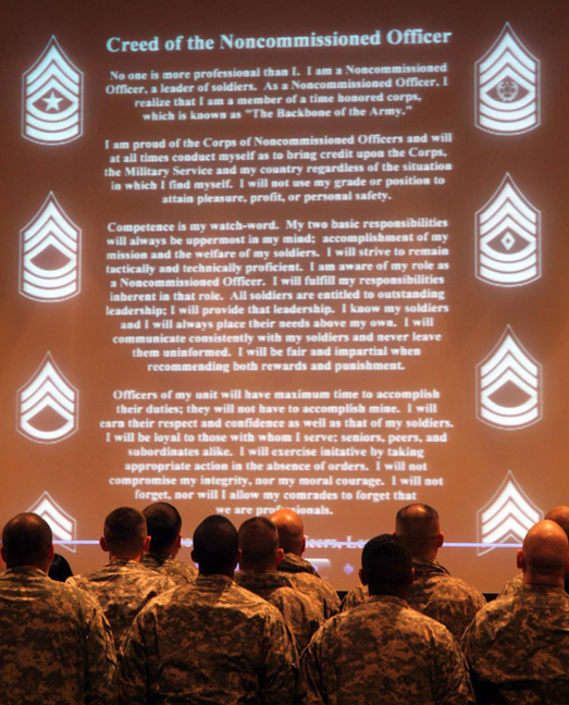 Nco Creed Ncos recite the creed of 523x648