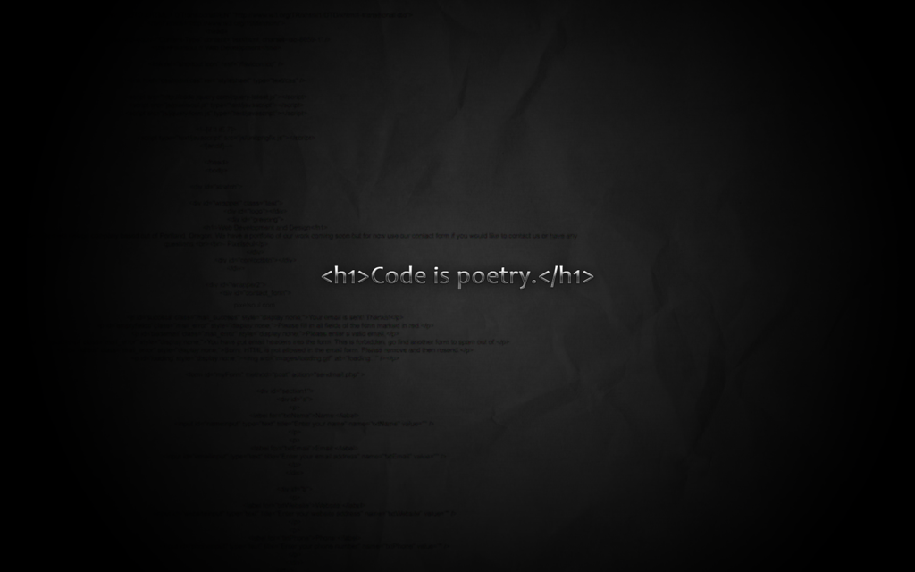 Code is poetry wallpaper by pixelsoul 1024x640