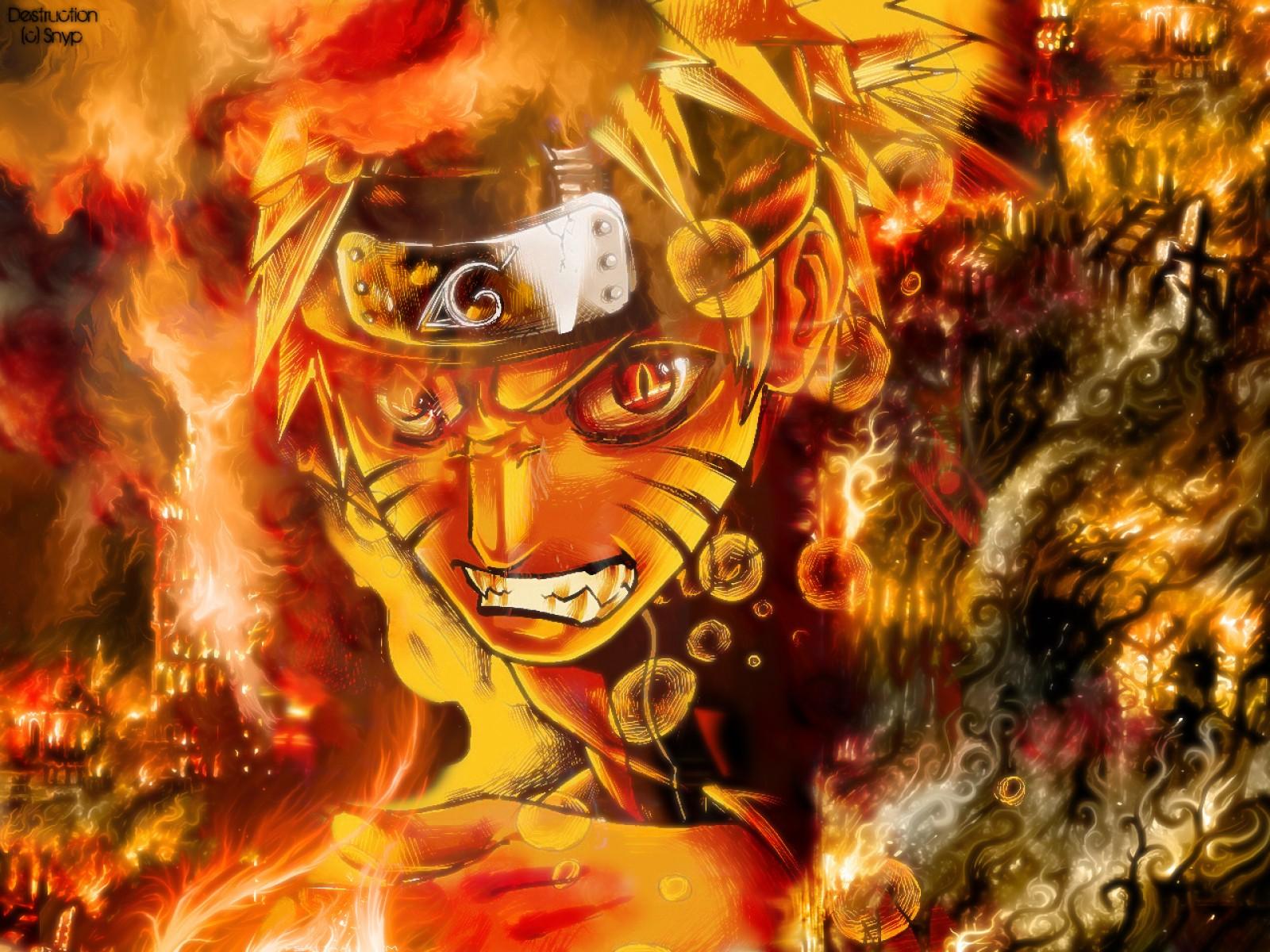 Naruto Shippuden   Naruto Kyubi HD Wallpaper Animation Wallpapers 1600x1200