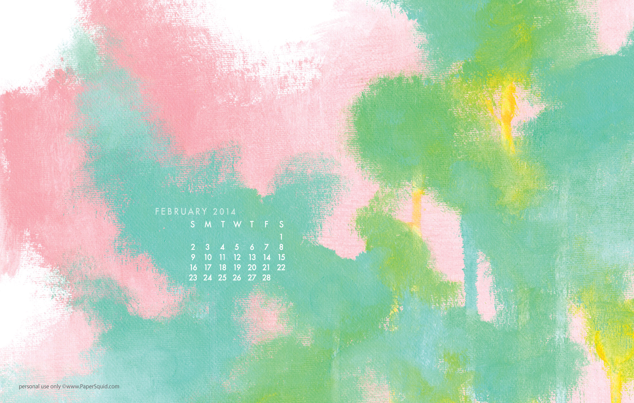 February 2014 calendar desktop wallpaper download here 2200x1400