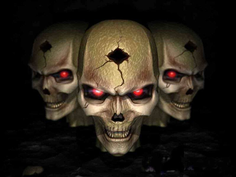 evil skull wallpapers 800x600