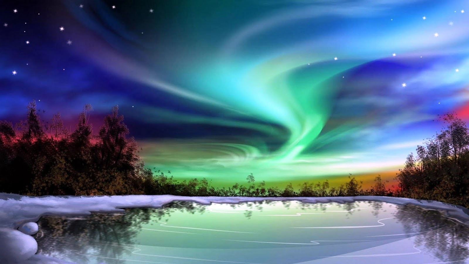 La Dolce Vida Northern Lights Alaska 1600x900