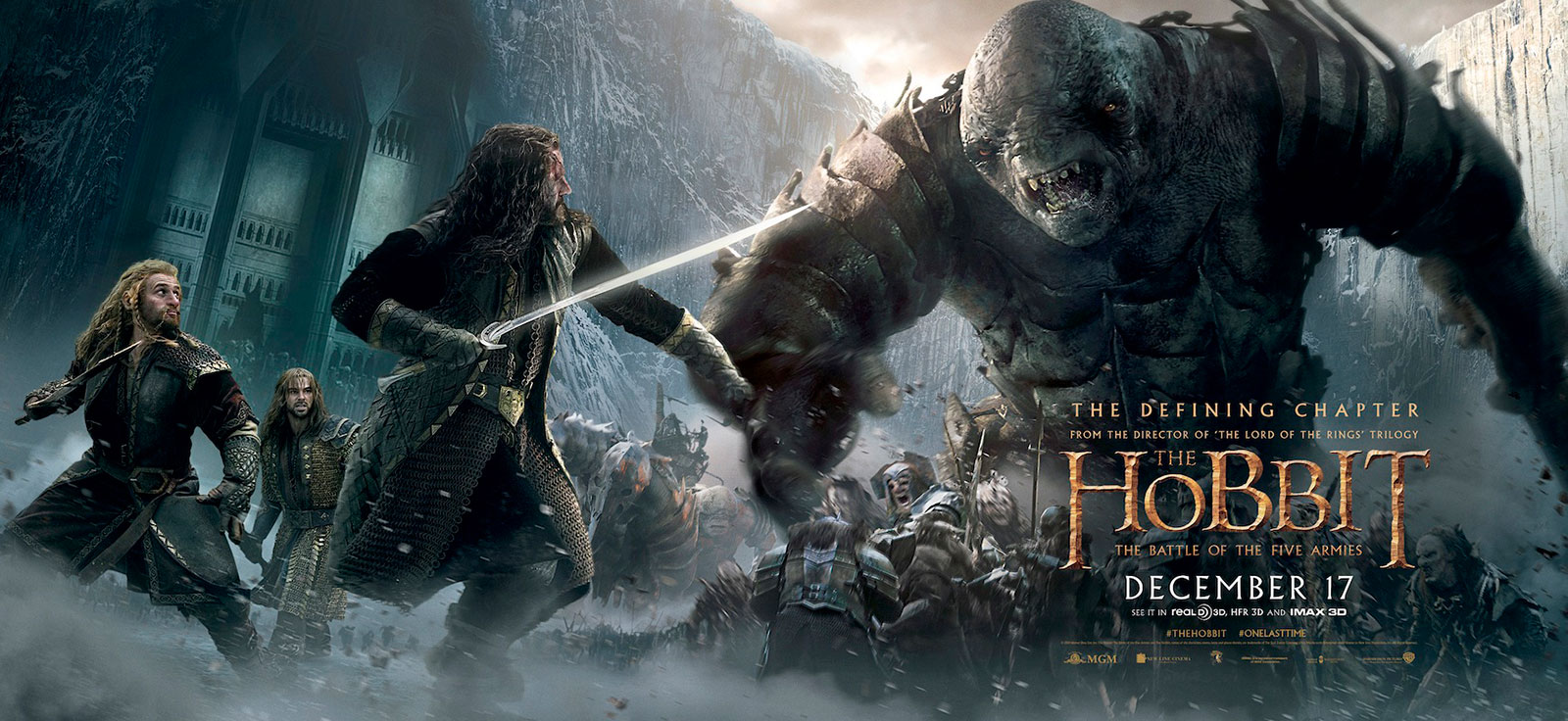 The Hobbit 3 The Battle of the Five Armies Desktop Wallpaper HD 1600x736