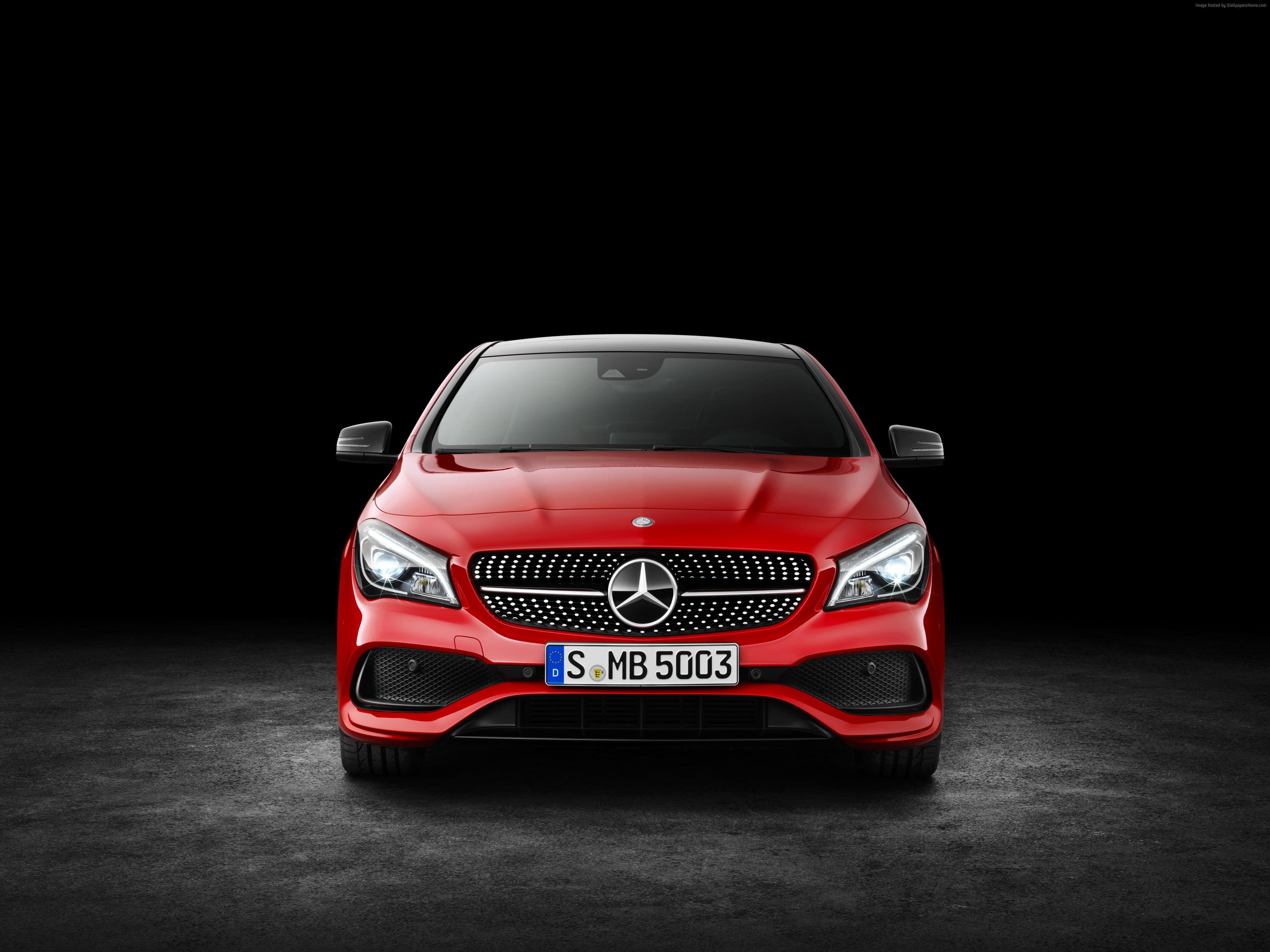 Red Mercedes Benz car HD wallpaper Wallpaper Flare 4096x3070