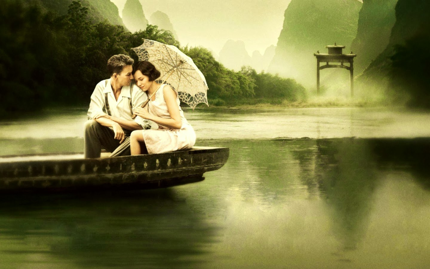Romantic Couple HD Wallpaper and Image couple in boat 1440x900