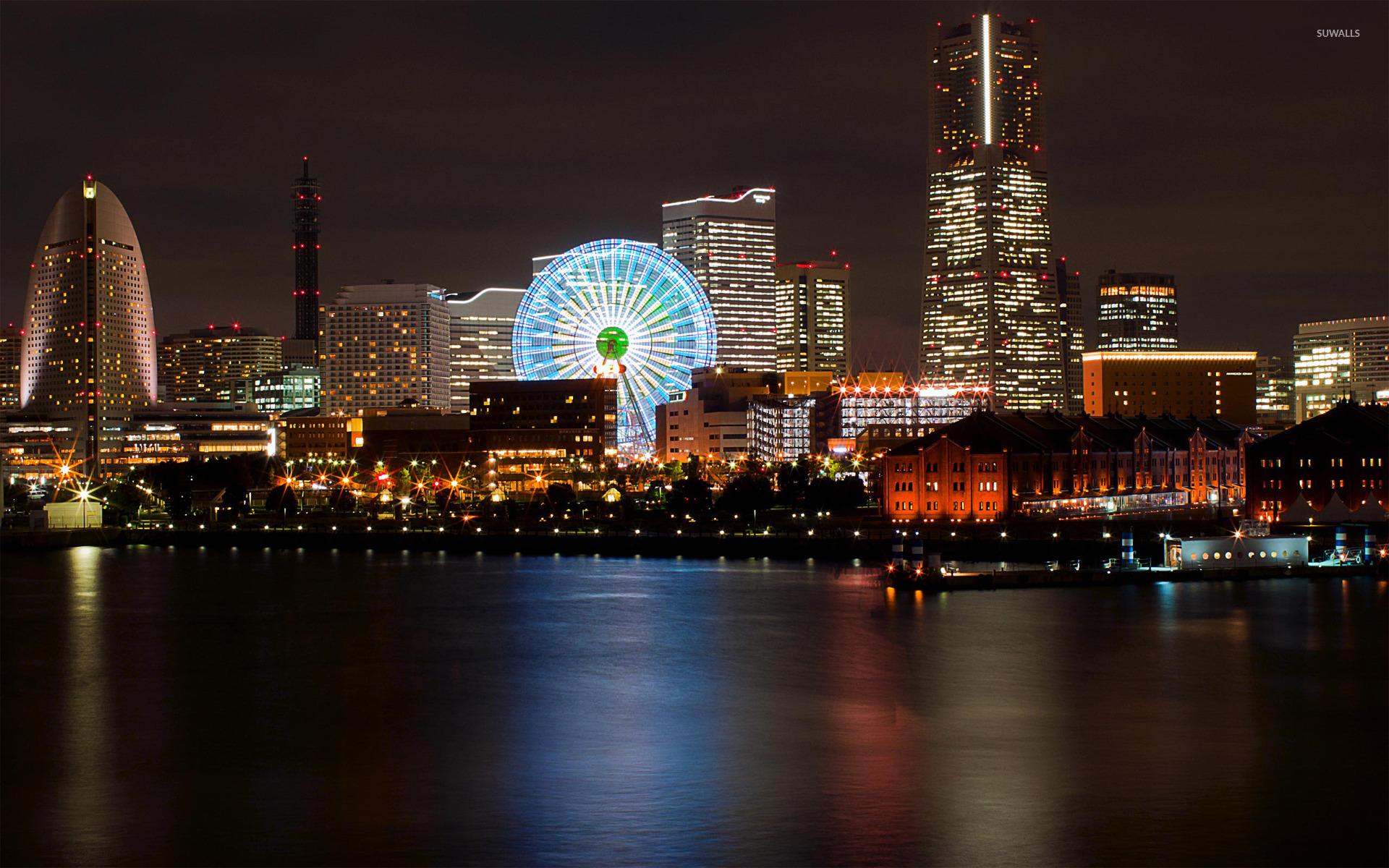 Yokohama at night wallpaper   World wallpapers   20794 1280x800