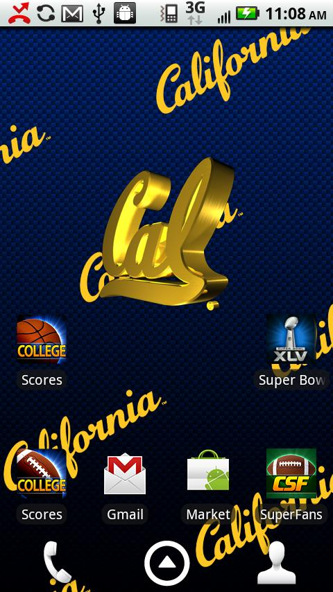 Officially licensed University of California Bears Live Wallpaper 480x854