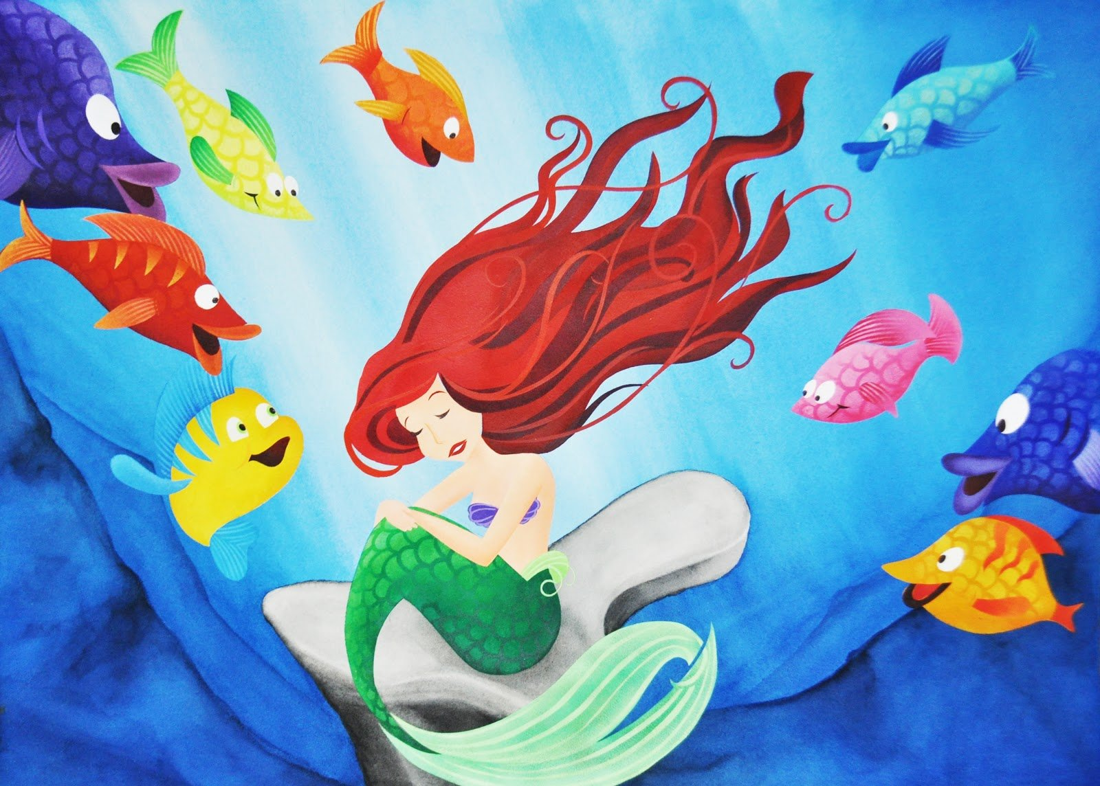 Cute ariel wallpaper wallpapersafari for The little mermaid fish