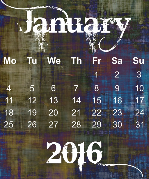 January 2016 Grunge Calendar Stock Photo   Public Domain Pictures 512x615