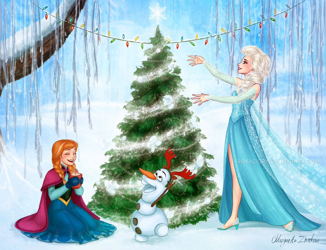 Christmas in Arendelle by ribkaDory 1280x981