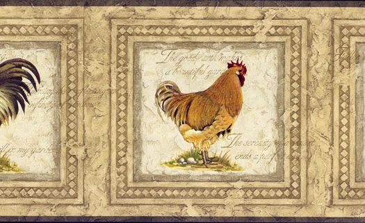 wallpaper In The Kitchen With Roosters Pinterest 525x321