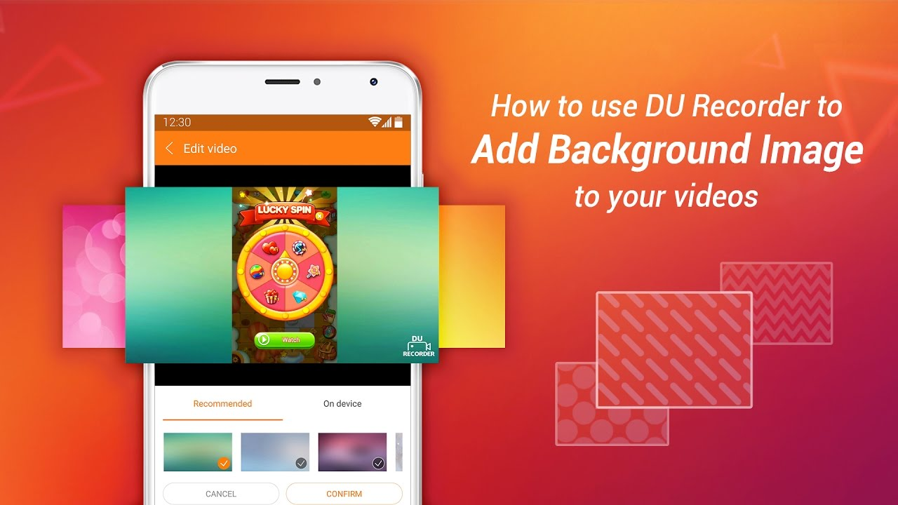 How to use DU Recorder to add background image to your videos 1280x720