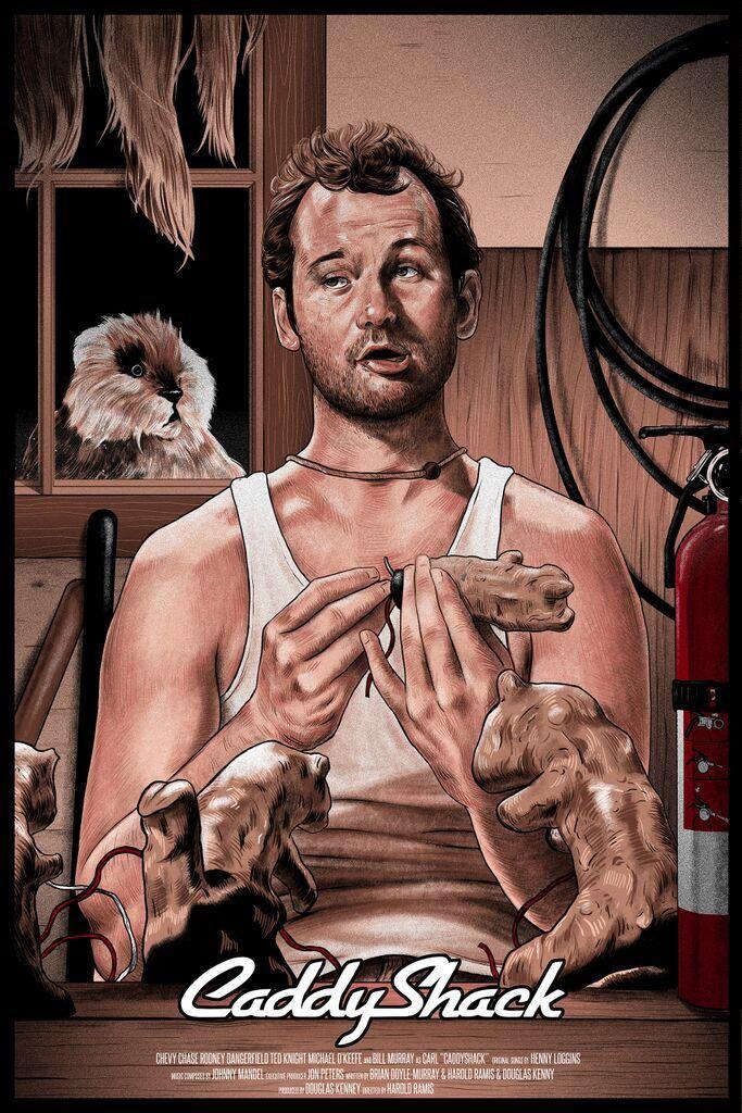 Caddyshack movie art Bill Murray Gopher Funny from tumbler 683x1024