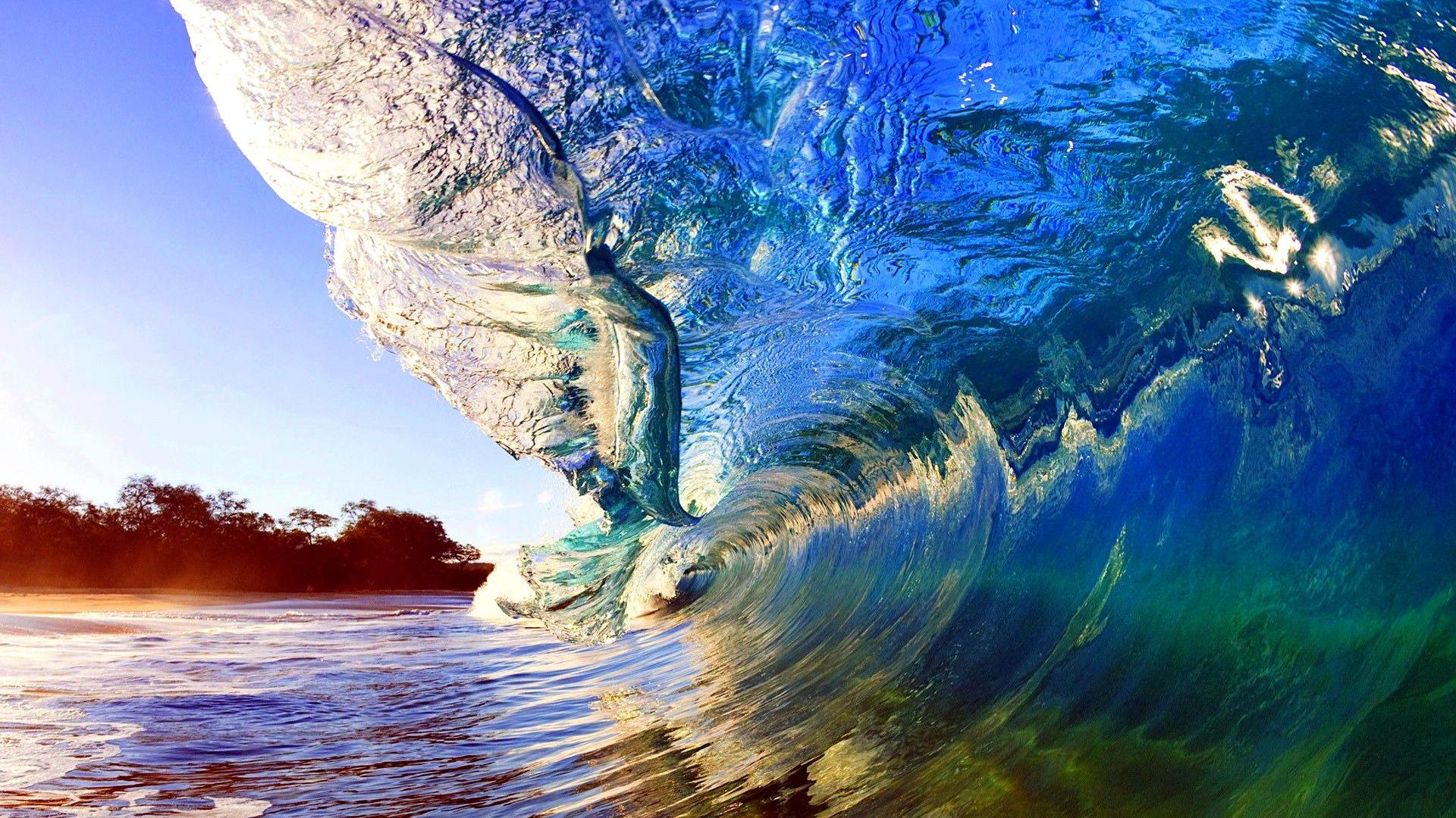 Wave Wallpaper High Resolution Beach Waves Wal...