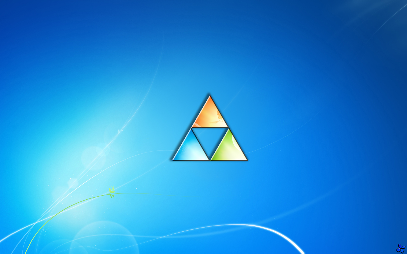 Legend of Zelda Triforce Windows 7 wallpaper by DigitalVoyager on 1600x1000