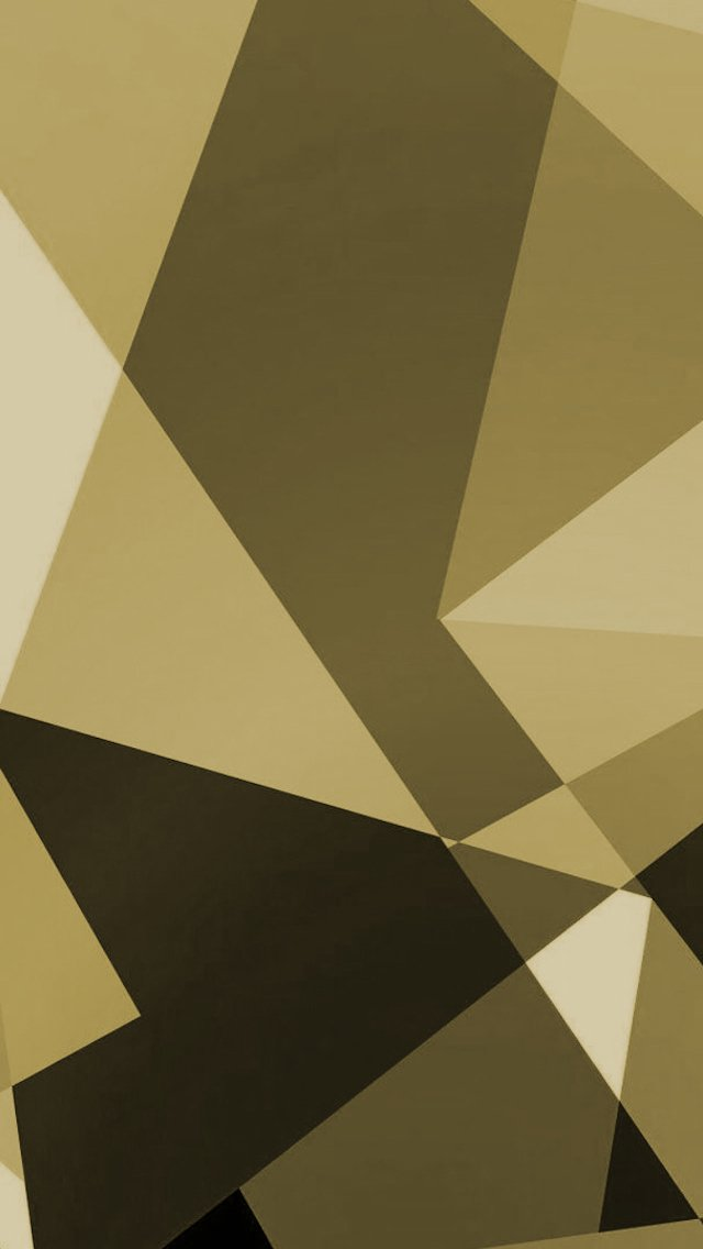 Gold Shapes iPhone 5 Wallpaper 640x1136 640x1136