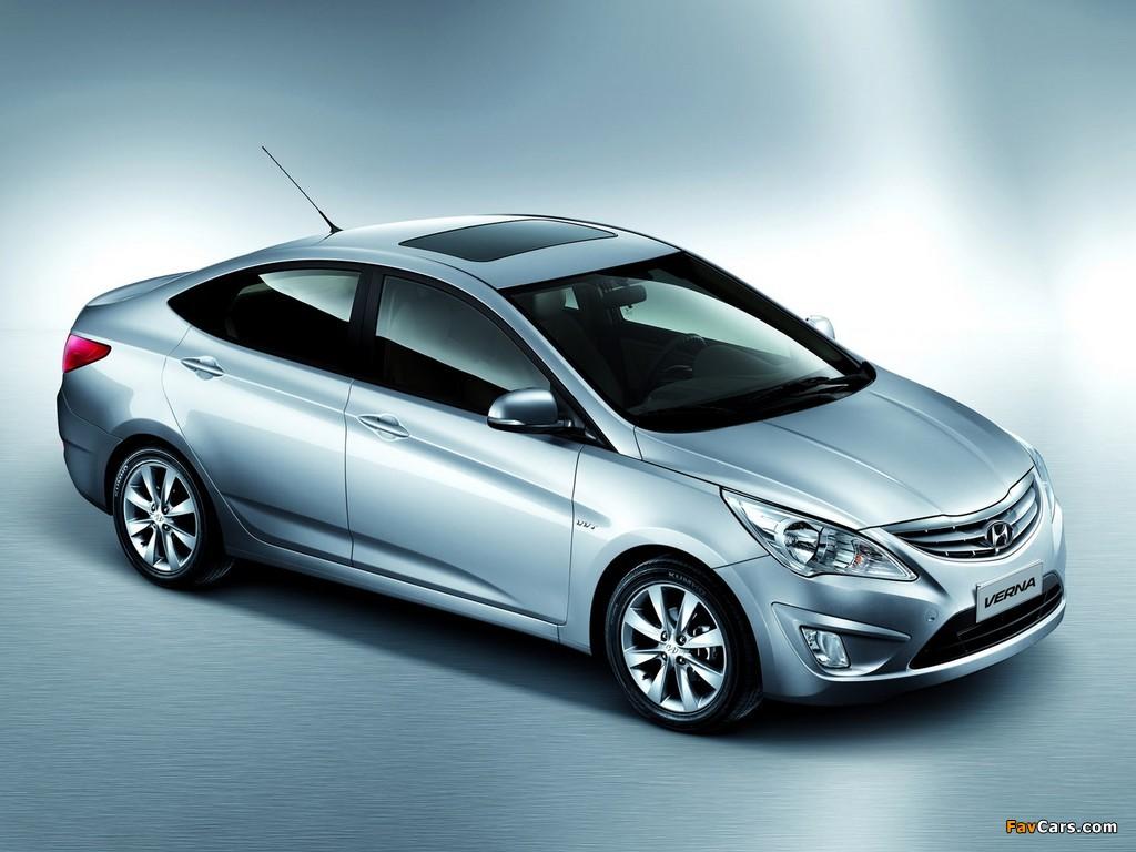 Hyundai Verna RB 2010 wallpapers 1024x768