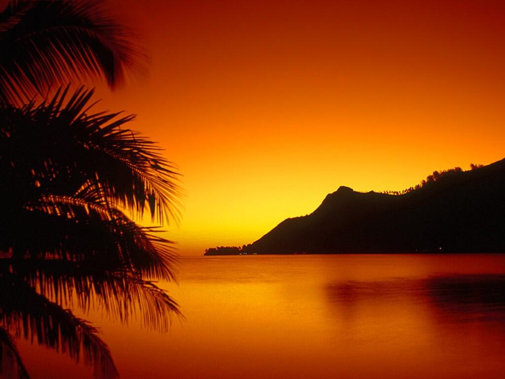 Hawaii Sunset Wallpaper 1024x768