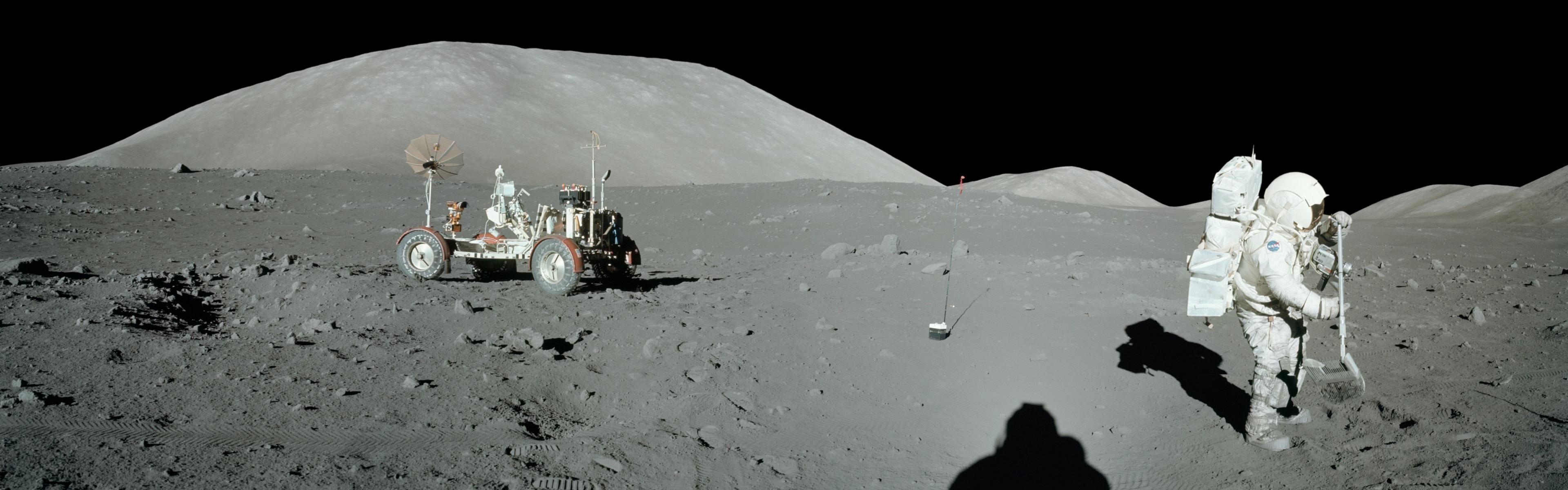 3840x1200   dual monitor wallpaper   lunar landing Wallpapers 3840x1200