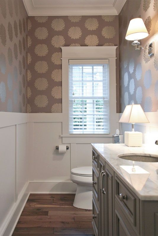 half bath   love the wallpaper snd architectural details 534x800