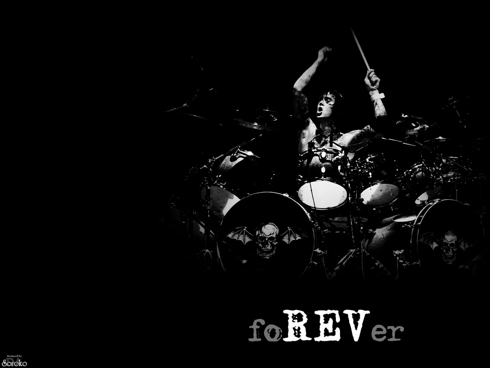 A7X The Rev FoREVer Drums Avenged sevenfold wallpapers 1600x1200