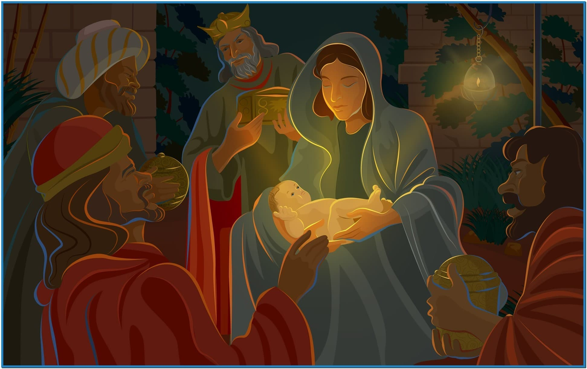 Christian christmas wallpapers and screensavers - Download free