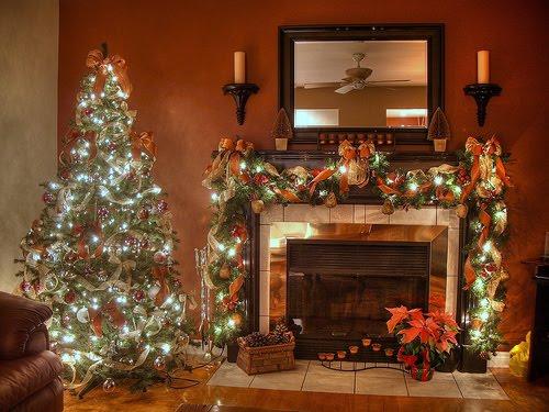 Christmas Desktop Wallpapers Christmas Fireplace Desktop Wallpapers 500x375