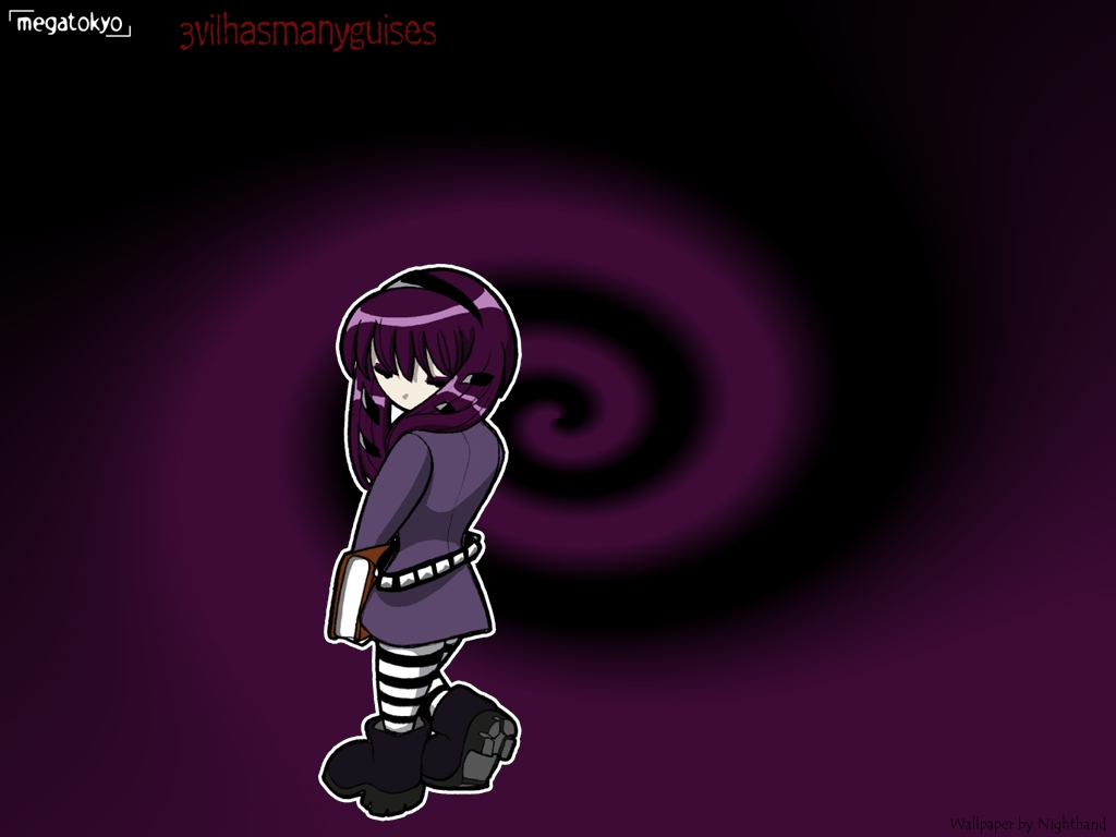 Megatokyo wallpaper Evil Guise by Nighthand 1024x768