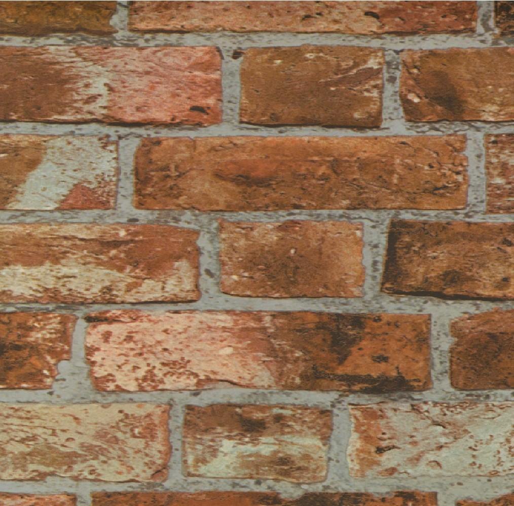 DISTINCTIVE BRICK WALL STONE SANDSTONE EFFECT 10M WALLPAPER ROLL 1014x1000