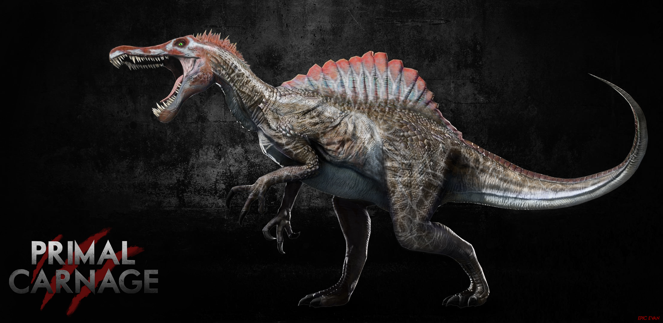 Primal Carnage reskin JPIII Spinosaurus by Gandalf the Ghey on 2215x1080