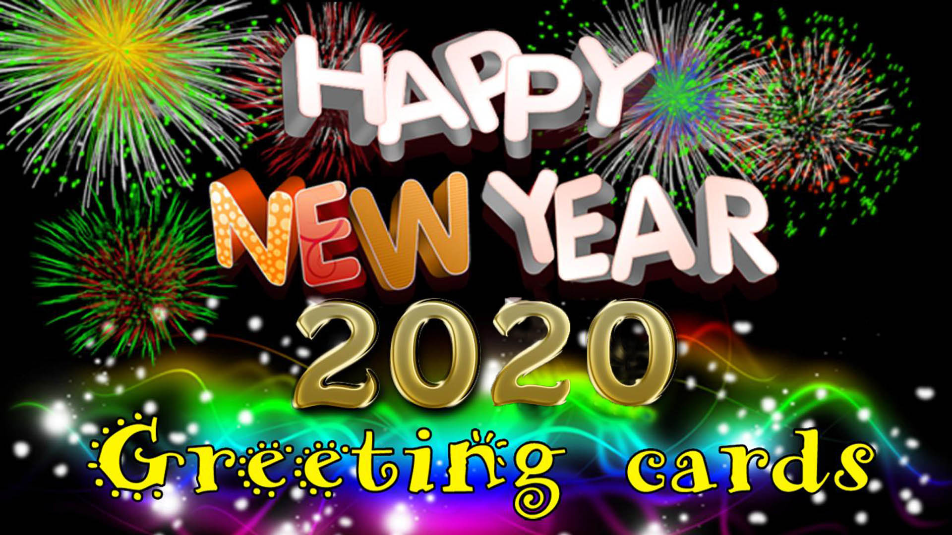 Happy New Year 2020 Greetings Cards Desktop Wallpaper Hd For 1920x1080