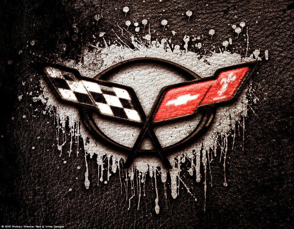 corvette logo wallpaper cars wallpapers - Corvette C5 Logo Wallpaper