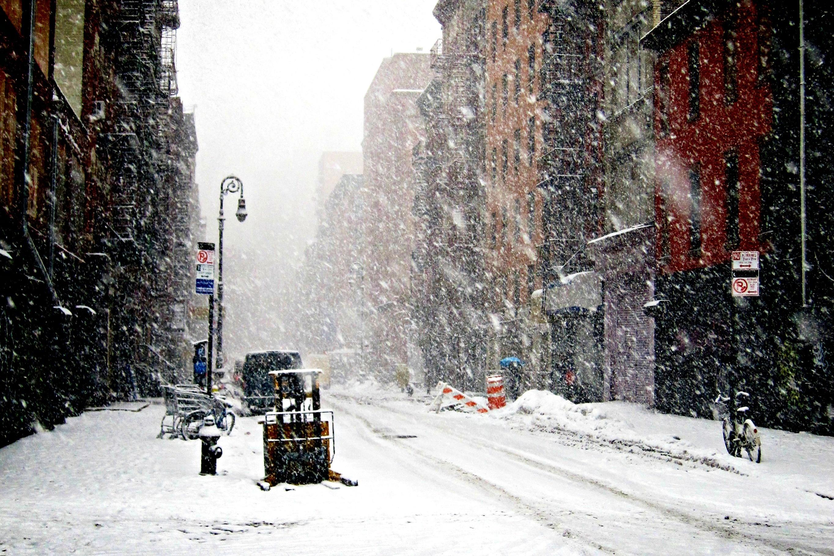 snow winter new york new york wallpaper background 2727x1818