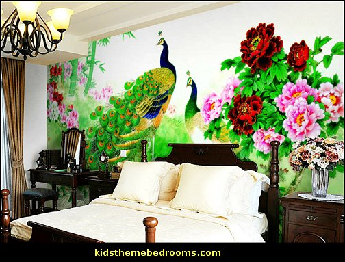 Decorating theme bedrooms Maries Manor Peacock theme decorating 504x383