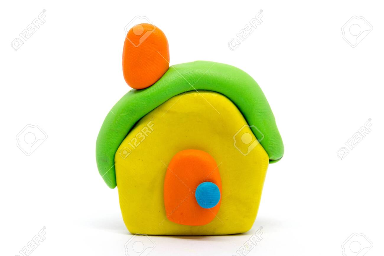 Playdough House On White Background Stock Photo Picture And 1300x866