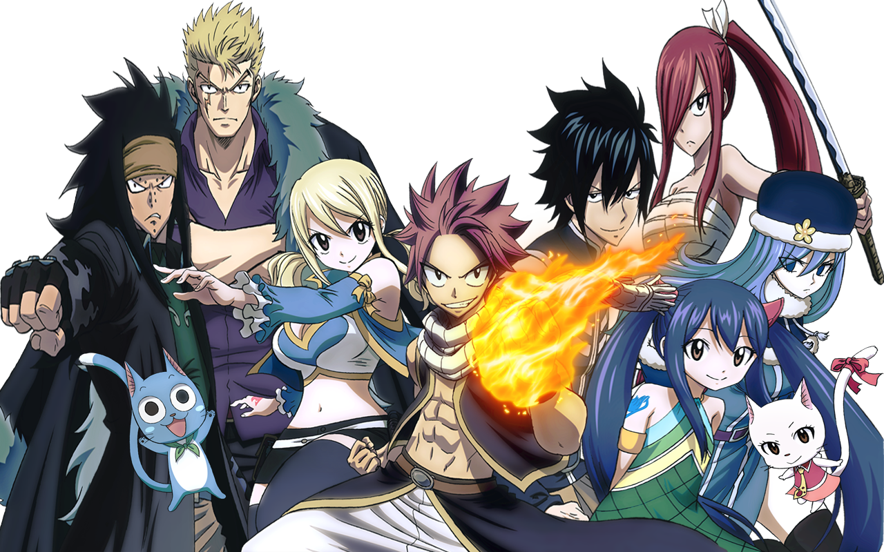 do anime Fairy Tail 2014 adicionadas tambm as de Fairy tail Zero 1280x800